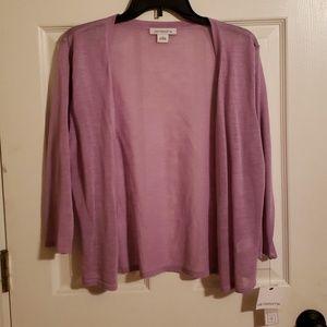 Liz Caliborne Sheer Lilac Sweater